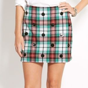 Vineyard Vines Winter Tartan Plaid Skirt sequins